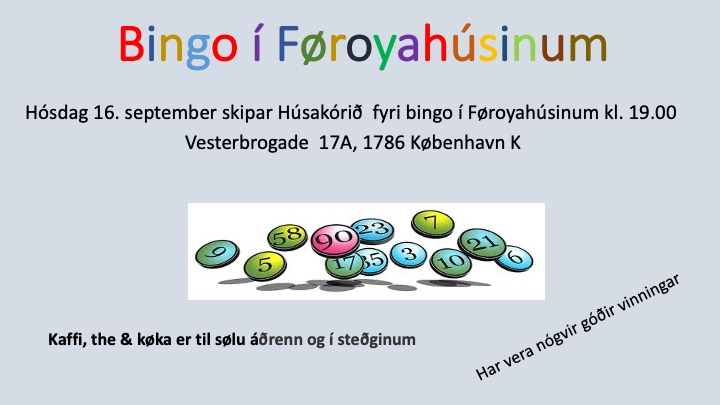Bingo í Føroyahúsinum